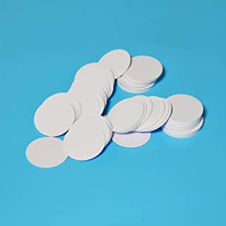 25PCS NTAG215 NFC Tag Blank White PVC Cards Round Label 35mm 1.38 inches for All NFC Enabled Phones, 100% Compatible with Amiibo and TagMo by Timeskey NFC