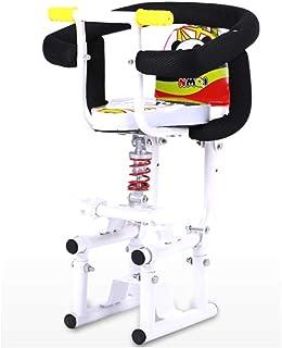 Frente a salvo del bebé del niño del asiento de soporte del pedal del asiento de la moto eléctrico del asiento del niño con Respaldo Pedales desmontable Apoyabrazos Seguridad Estable choque Asiento Ab