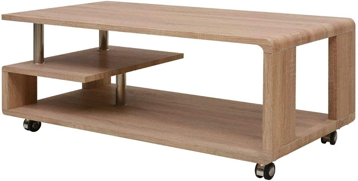 Daonanba Stunning Coffee Table Practical Table for Living Room Style G Brown