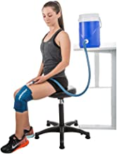 Aircast Cryo Cuff Cold Therapy Knee Solution - Blue - Large, Non Motorized, Gravity-fed System, 1count