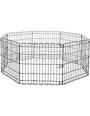 Amazonbasics 9004-24A Metalowy Kojec dla Zwierząt Domowych, 60,9 cm