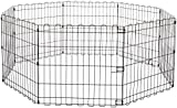 Amazon Basics Foldable Metal Pet Dog Exercise Fence Pen - 60 x 60 x 24 Inches