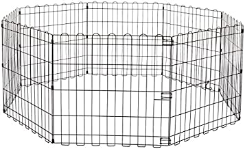 Amazon Basics Foldable Metal Pet Dog Exercise Fence Pen - 60 x 60 x 24 Inches