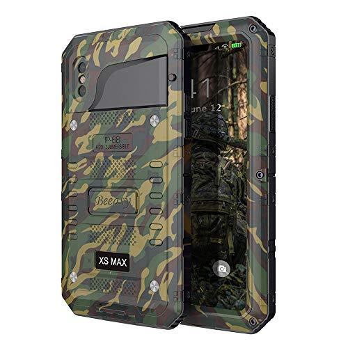 Beeasy Cover iPhone XS MAX Impermeabile Antiurto Camuffare, IP68 Waterproof Custodia Protettiva Full Body con Protezione dello Schermo, AntiGraffio Antineve Anticaduta Robusta Militare Subacquea Case