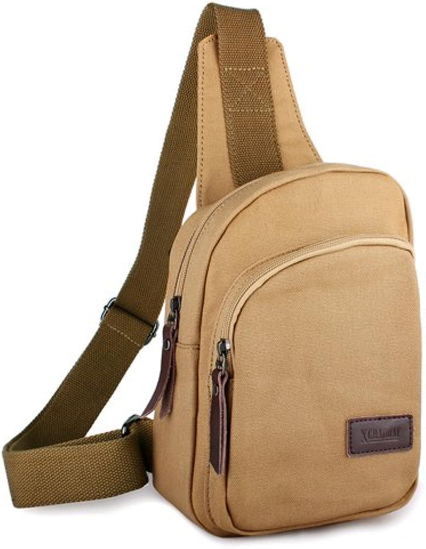 SunBao neue Generation der Koreanischen Brust Paket Männer und Frauen Canvas Tasche Paket Outdoor Tour Paket Schultertasche casual Bag, Khaki B0768YLCC3  Offizielle Webseite