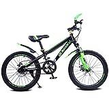 Topyl 18 pulgadas freno de disco doble shock absorpicn bicicleta de suspensión,bicicleta de suspensión para estudiante,bicicleta bicicleta de montaña para niños negro y verde 18'