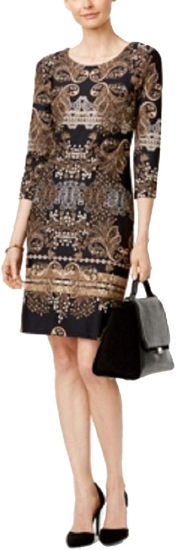 Charter Club Petite DamaskPrint Sheath Dress