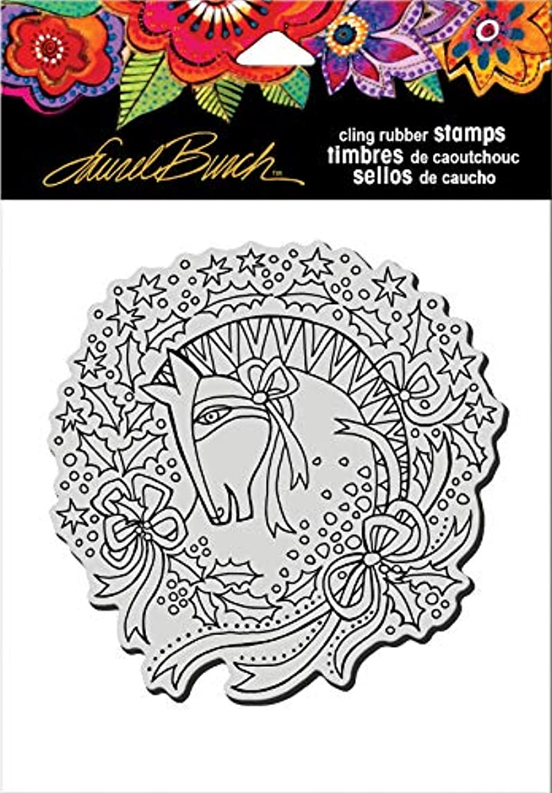 Stampendous Cling Rubber Stamp, Wreath Mare