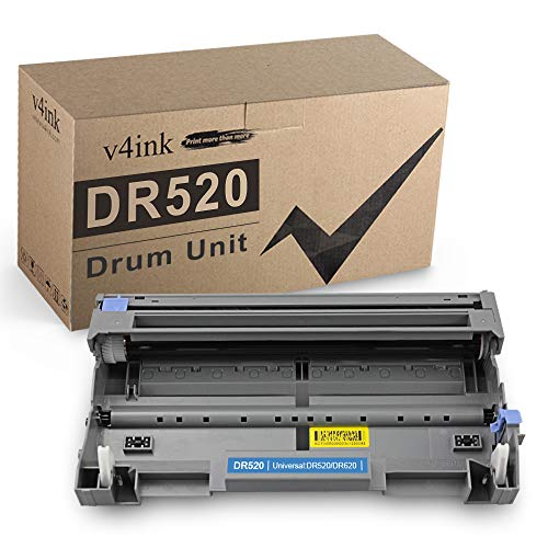 v4INK Compatible DR 620 DR 520 Drum Unit Replacement for Brother Drum for Brother HL-5370DW 5340D 5250DN 5240 5350dn MFC-8480DN 8890DW 8460N 8690DW 8680DN 8660DN DCP-8060 8080DN printer 1 Pack (Black)
