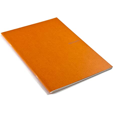 Fabriano EcoQua Notebook, Large, Staple-Bound, Grid, 38 Sheets, Orange
