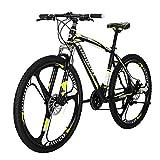 Eurobike X1 Mountain Bike 21 Speed 27.5 Inch K Wheels Dual Disc Brake Mountain Bicycle Black Yellow