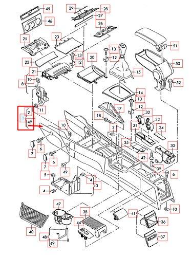 GTV INVESTMENT A3 8PA Mittelkonsole RHD 8P2863244 57T NEU Original 2013