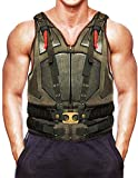 Mens Bane Dark Knight Rises Tom Hardy Military Costume Vest, Faux Leather