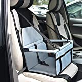 Durable Pet Booster Seat,Dog Protector Car Seat with Adjustable Safety Straps and Zipper