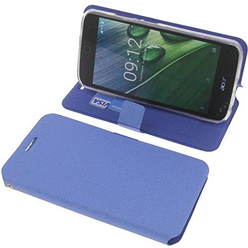 foto-kontor Tasche für Acer Liquid Zest Plus Book Style blau Schutz Hülle Buch