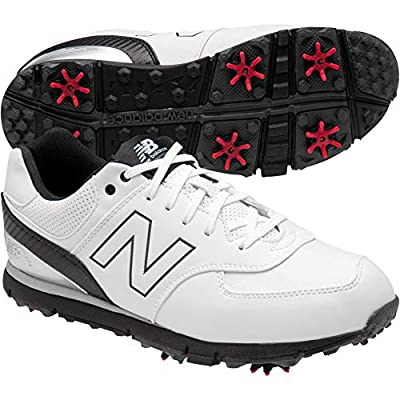 New Balance Mens Nbg574 Golf Shoes White/Black 4E 10