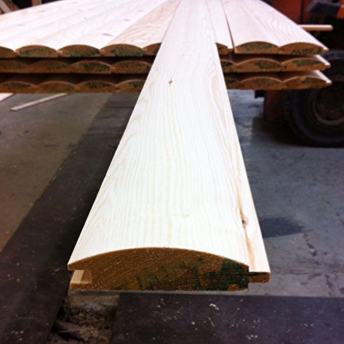 Pine Loglap Timber Cladding 85x22mm 5 X 2.4 Meter Lengths