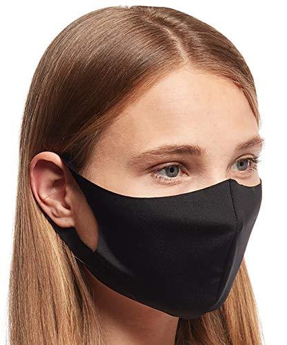 5 x Mundmasken für Freizeit Sport Training Mundschutz Staub Pollen Gesichtsmaske Fashion Maske Gesichtsschutz Face Masks Sportmaske waschbar Q schwarz