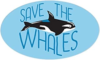CafePress Save The Whales Oval Bumper Sticker, Euro Oval Car Decal