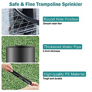 Fostoy Trampolin Sprinkler für Kinder, 12m Summer Outdoor Sprinkler Wasserpark Spielzeug, Trampolin Wasserspielzeug Spray Sprinklerschlauch Zubehör für Spaß Garten Party