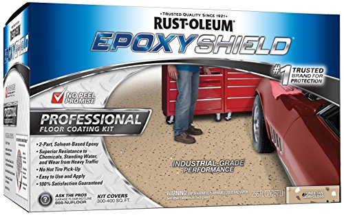 Rust-Oleum 238466 Epoxy Shield Esh-06 Professional Based Floor Coating Kit, Liquid, Dunes Tan, Solvent Like, 263 G/L Voc, Two 1-Gallon containers Sand