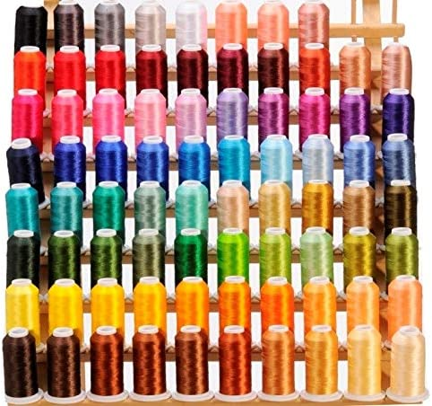 80 Cones 1100 Yards Each Surprise price Threads Polyester Embroidery of Compa Max 73% OFF