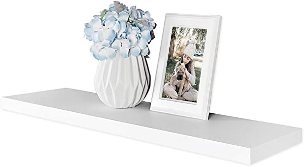 WELLAND Simons Floating Wall Shelf Ledge Shelves 36 Inch White