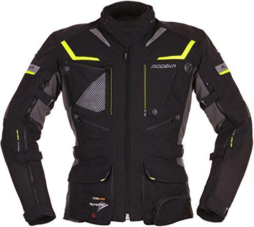 Modeka Panamericana Motorrad Textiljacke Schwarz/Neon XL