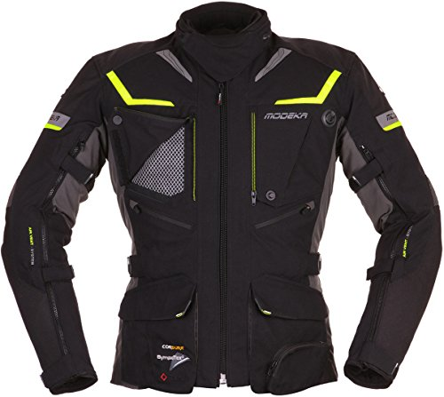 Modeka Panamericana Motorrad Textiljacke Schwarz/Neon L