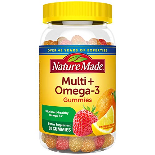 Nature Made Multivitamin + Omega-3 Gummies, 80 Count for Daily Nutritional Support