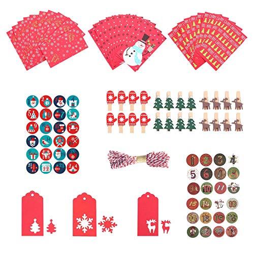 hainan sssty - Juego de 24 cajas de regalo para Navidad, diseño...