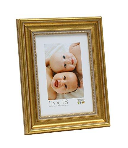Deknudt Frames, Cornice portafoto con Rete in Resina, Resina, Oro, 10 x 15 cm