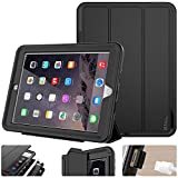 SEYMAC stock Case for iPad 5th/6th Generation, iPad 9.7 Inch 2017/2018 Case Smart Magnetic Auto Sleep Cover Leather with Stand Feature for iPad 2017/2018 Release Model(Black/Black)