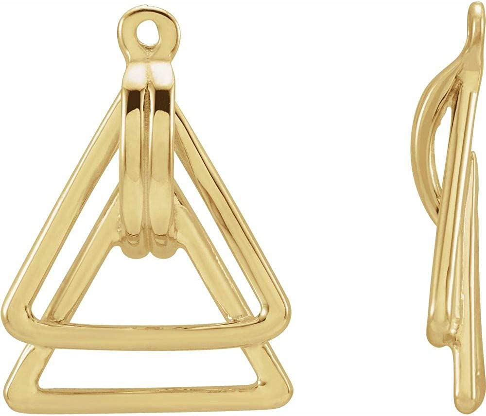 Geometric Facet Triangle Earring Jackets