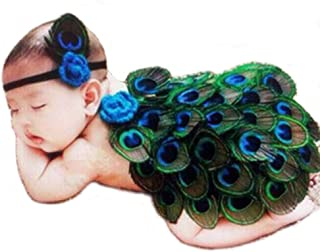 Swovo Baby Girls Outfits Cute Peacock Costume Baby Photography Props with Headband
