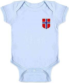 Norway Soccer Retro National Team Jersey Costume Infant Baby Boy Girl Bodysuit