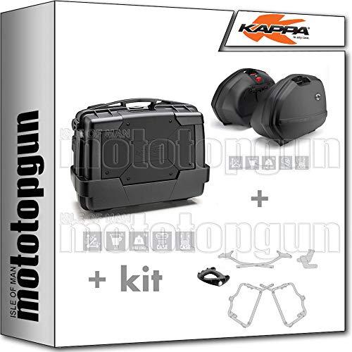 kappa maleta kgr33n + maletas laterales k33n + portaequipaje monokey + portamaletas lateral k33 monokey side compatible con honda nc 750 x 2020 20
