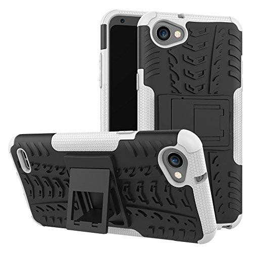 SCIMIN Capa para LG Q6, capa híbrida para LG Q6¦Á, capa rígida híbrida de camada dupla à prova de choque com suporte integrado para LG Q6, LG Q6¦Á