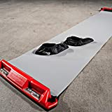 HockeyShot Slide Board Comes in Two Sizes 8ft and 10ft with a Pair of Large Slide Board Booties (Size 8-12). (8 ft)