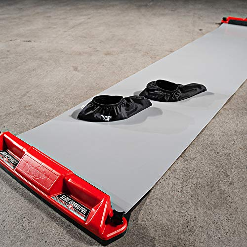 HockeyShot Slide Board Pro. | Hockey Training Aids Comes in Two Sizes 8ft and 10ft | Comes with a Pair of Large Slide Board Booties (Size 8-12).