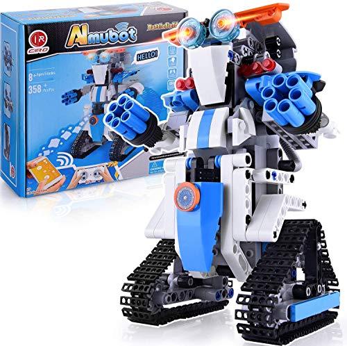 CIRO Bloques de Construcción, Robot Juguete con Función de Sensor de Infrarrojos y Voz, Juego Educativo Regalos para Niños(Recomendado a Partir de 8 Años para Desarrollo Integral(B772)