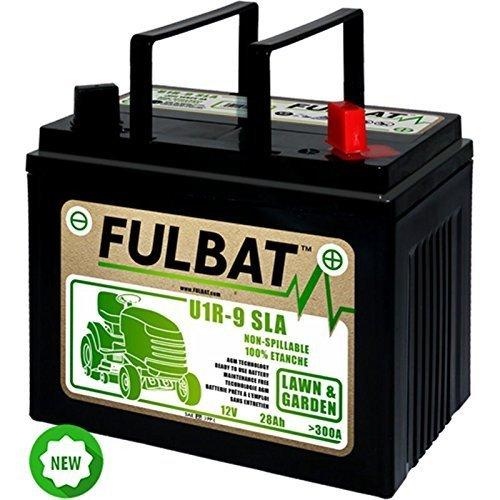 GreenCutter AG 0200247 Fulbat, Batteria per Trattorino al Gel, Sigillata, Pre-Attivata, 12V 28Ah, Polo Positivo Destra
