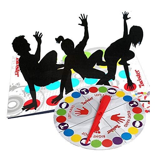 LCJDD Classic Twister Game Blanket, Bodenspiel für Kinder Erwachsene Mädchen Funny Balance Bodenspielfeldmatte für Familien 63,1 × 46 Zoll.
