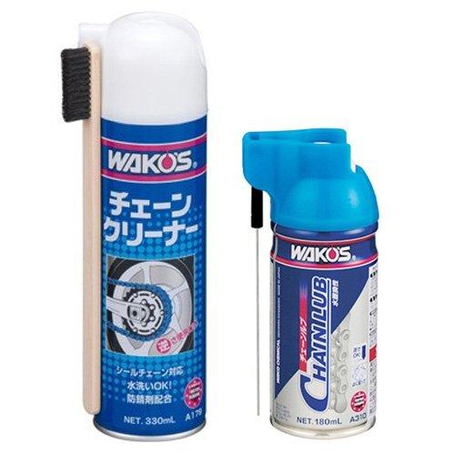WAKO'S ワコーズ チェーンクリーナーCHA-C(330ml/A179) &チェーンルブCHL(180ml/A310)【CHA-C+CHL ...