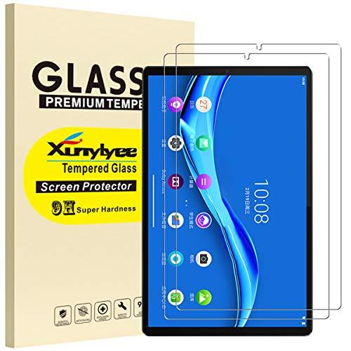 XunyLyee [2 Piezas] Protector de Pantalla Compatible Con Lenovo Tab M10 FHD Plus, 2.5D Cristal Templado Film para Lenovo Tab M10 FHD Plus 2nd Gen TB-X606F /TB-X606X 10.3 Pulgadas