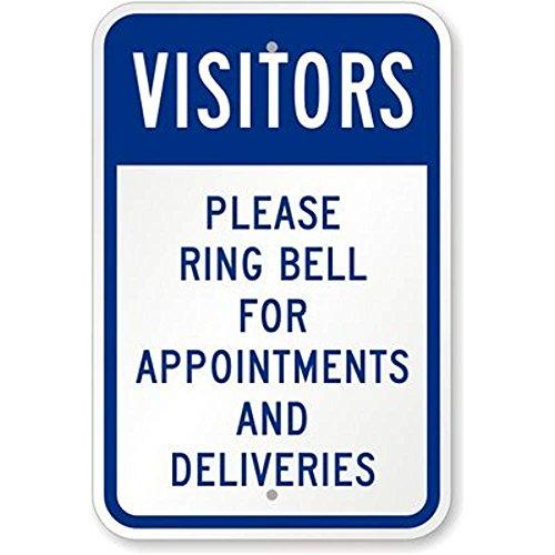Odwiedzający, proszę dzwonić do terminu i dostawy, 30 x 45 cm