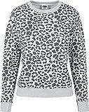 Urban Classics Pullover Ladies All-Over-Print Sweater Crewneck Sudadera, Gris (Grey Leo 02064), 3XL para Mujer