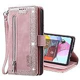 SCRENDY Funda para Samsung Galaxy S20 FE, Carcasa Billetera con 9 Tarjetero Fundas Wallet Case para Mujeres con Libro Tapa con Cuero Premium Magnético-Rosa