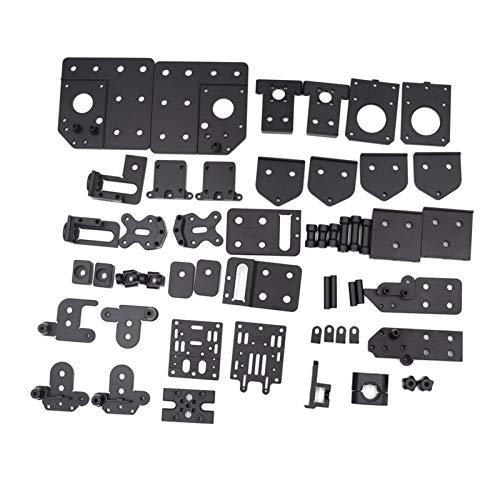 Lifeyz para la Impresora Cube 3D, Todo el Kit de actualización de Carne diseñada por Ben Levi BLV CNC Aleación de Aluminio Montaje de Metal Soporte (Size : Triple Z Axis)