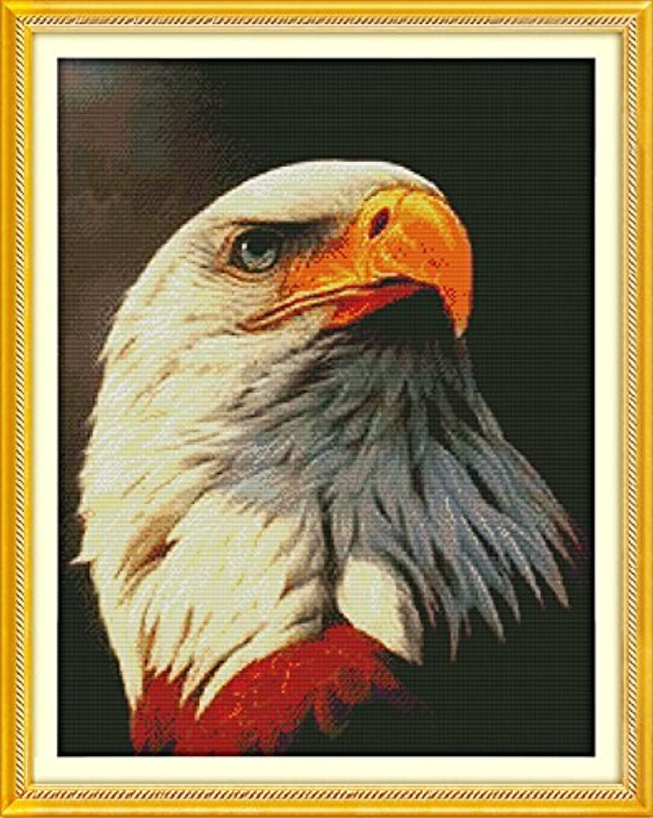 Joy Sunday? Cross Stitch Kit 11CT Stamped Embroidery Kits Precise Printed Needlework- Bald eagle (1) 60×76CM
